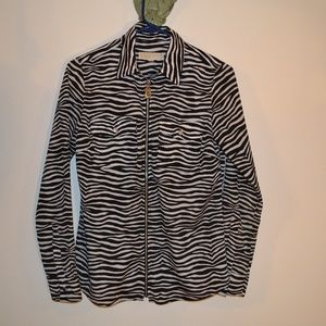 MICHAEL KORS LONG SLEEVE ZIP TOP